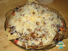 Homemade Nachos - Meat and Cheese