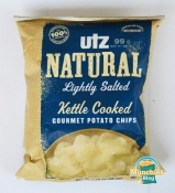 Utz Natural Lightly Salted Kettle Cooked Gourmet Potato Chips - Vitamin C Included