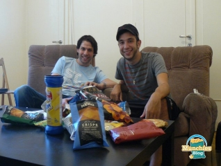Roy & David after the first round of munchies reviews